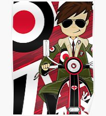 Mod on Scooter Poster