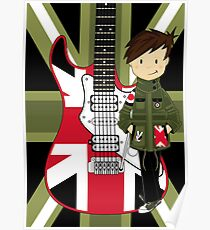 Mod Boy with Guitar Poster