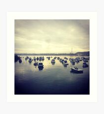 Gorey Boats Art Print