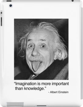 Imagination is more important than knowledge. by FrancesGlass