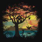 Sunset Silhouette by zomboy