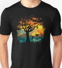 Sunset Silhouette Swing Unisex T-Shirt