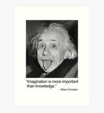 Lámina artística La imaginación es más importante que el conocimiento.