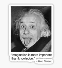 Imagination is more important than knowledge. Sticker