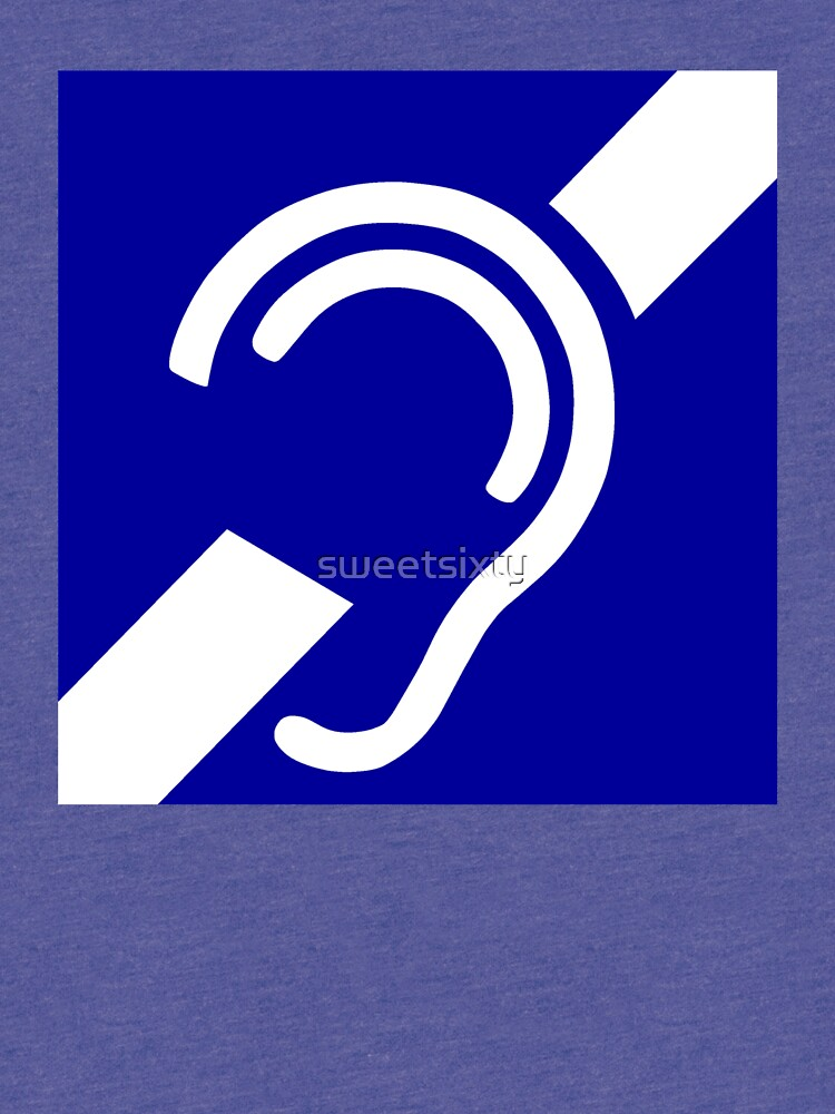 Deaf Symbol Tri Blend T Shirt By Sweetsixty Redbubble