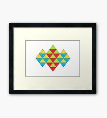 TRIANGLES ARTWORK Framed Print