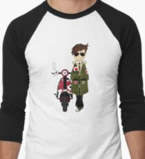 Mod Boy & Retro Scooter Men's Baseball ¾ T-Shirt