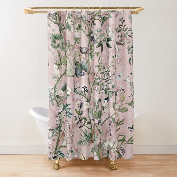 Wild Future pink Shower Curtain