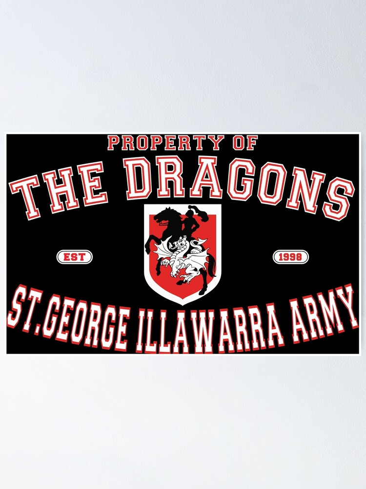 Alternate view of NRL - The St. George Illawarra Dragons Army  Poster