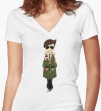 Mod Boy Women's Fitted V-Neck T-Shirt