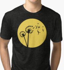 Dandylion Flight - Reversed Circular Tri-blend T-Shirt