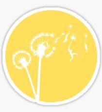 Dandylion Flight - Reversed Circular Sticker
