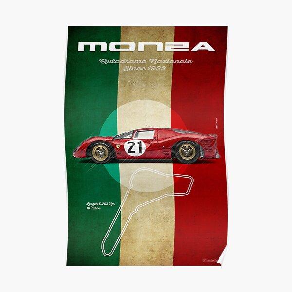 Monza Racetrack Vintage Poster