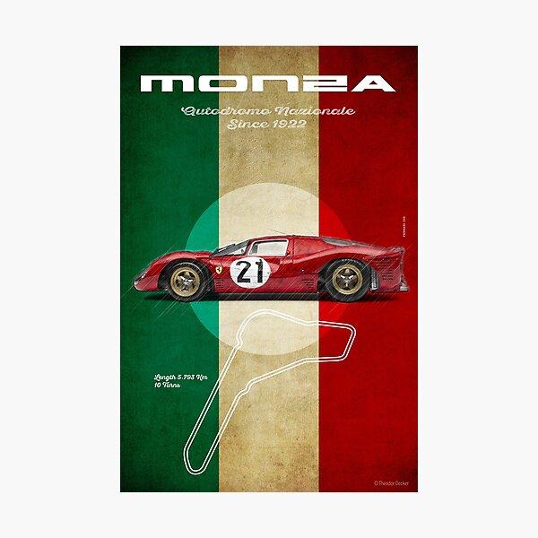 Monza Racetrack Vintage Photographic Print