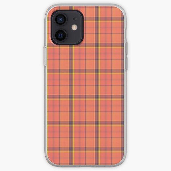 Orange Tartan iPhone Soft Case
