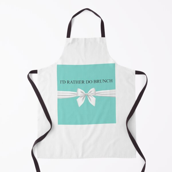 Breakfast at Tiffany's - I'd Rather Do Brunch - Tiffany Gift Box And Bow Apron