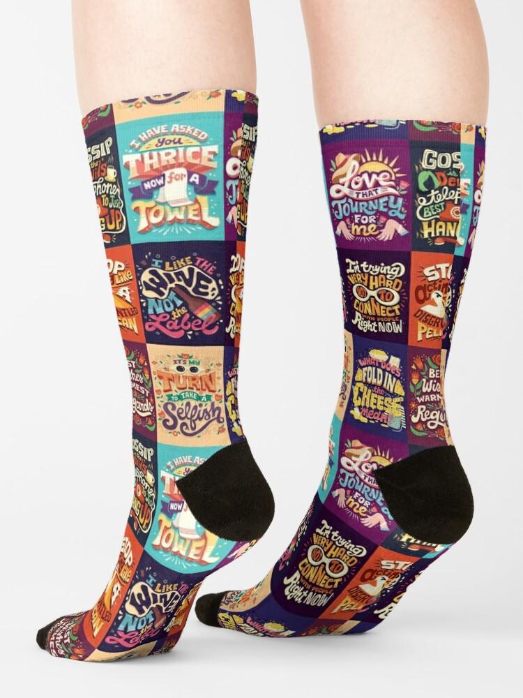 Alternate view of SC Collage Socks