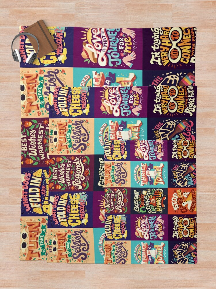 Alternate view of SC Collage Throw Blanket