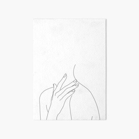 Figure line drawing - Danna Art Board Print