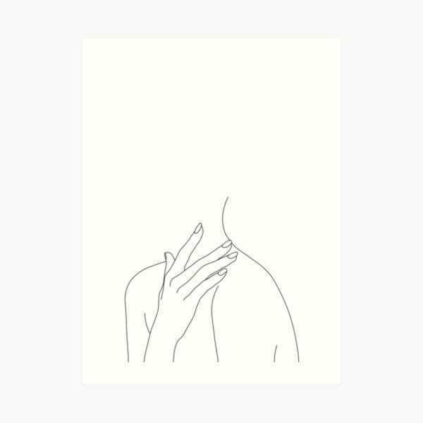 Figure line drawing - Danna Art Print