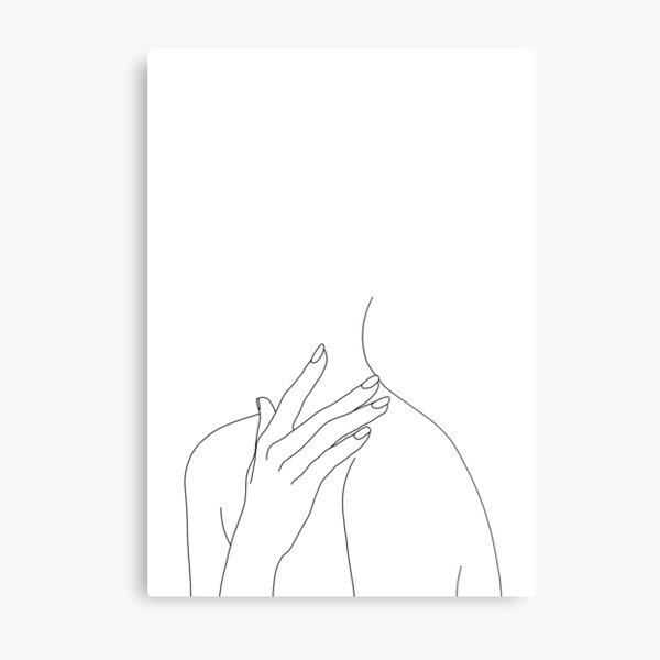 Figure line drawing - Danna Metal Print