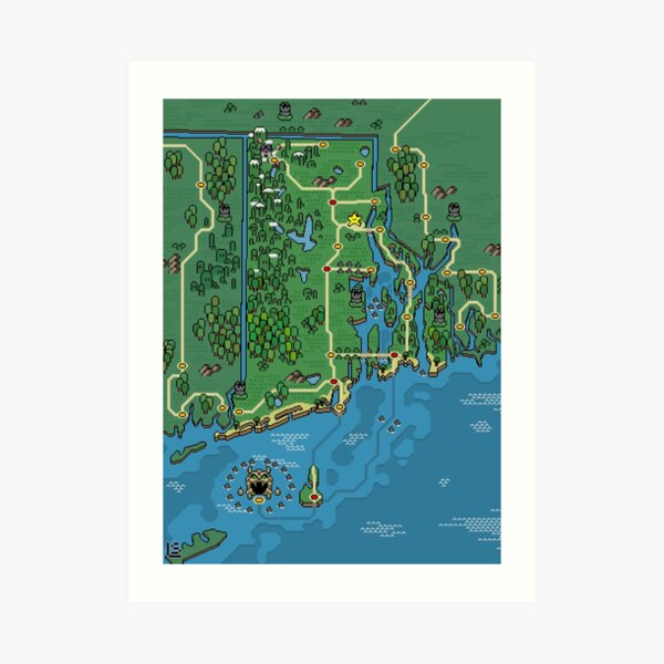 Mushroom style: Rhode Island Art Print