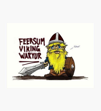 Feersum Viking Waryur Art Print