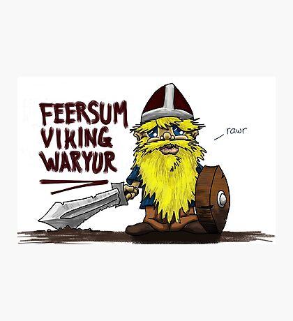 Feersum Viking Waryur Photographic Print