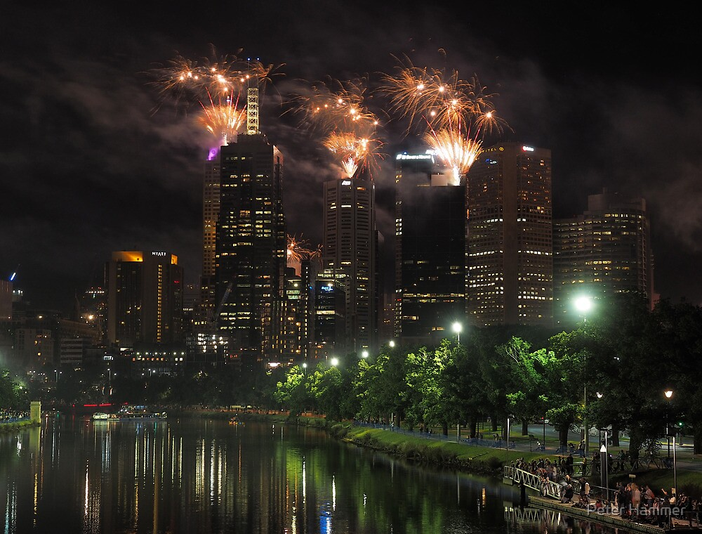 New Year's Eve on the Yarra by Peter Hammer