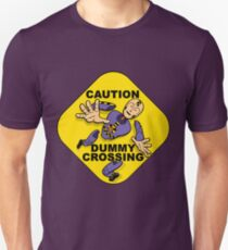 Crash Test Dummies - Caution Dummy Crossing - Purple Dummy T-Shirt