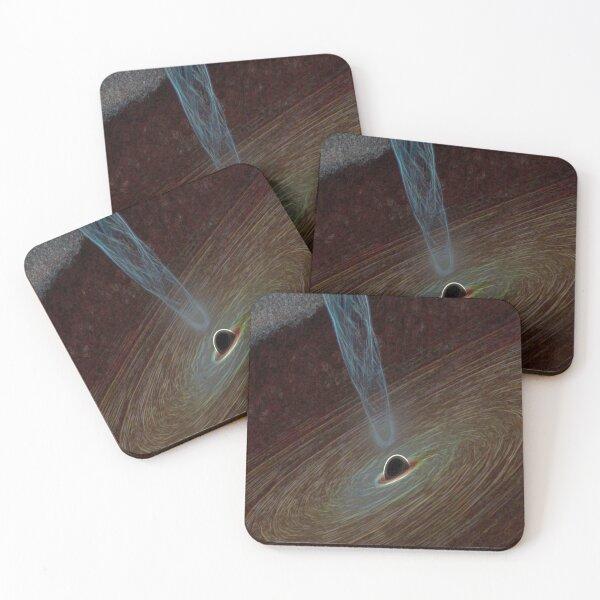 Mysterious Blackhole Coasters (Set of 4)