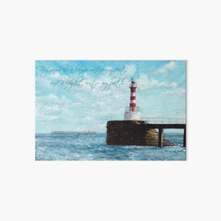 Lighthouse Psalm 119:105 Art Board Print