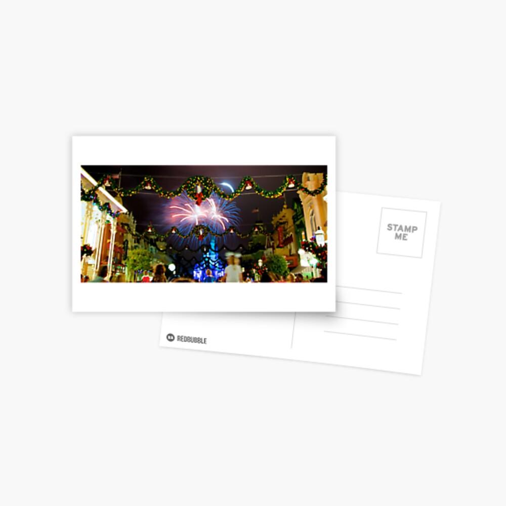 Blue Christmas Postcard