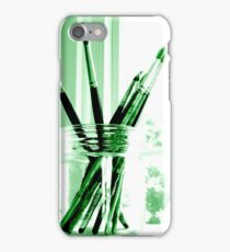 Green brushes iPhone Case/Skin