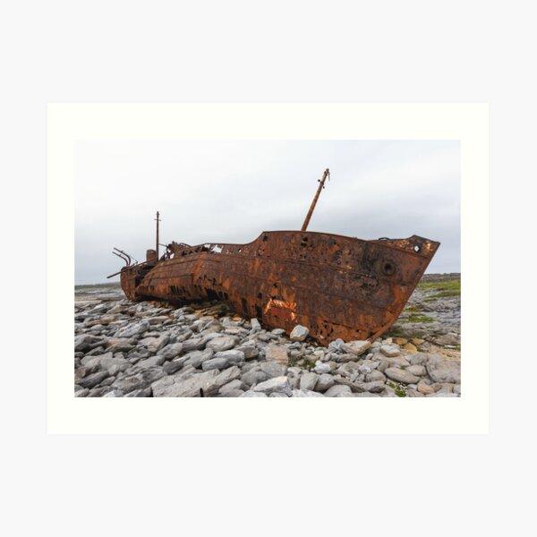 The Plassey Shipwreck Art Print