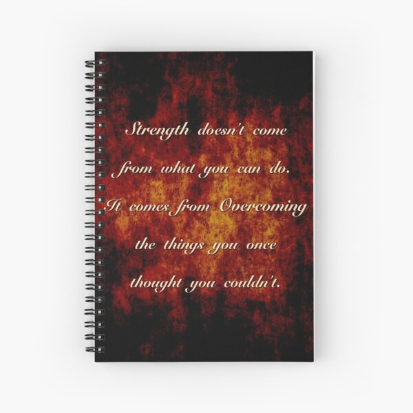 Inspirational Quote Spiral Notebook