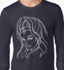 She-Ra Princess of Power - Looking Left - White Line Art T-Shirt