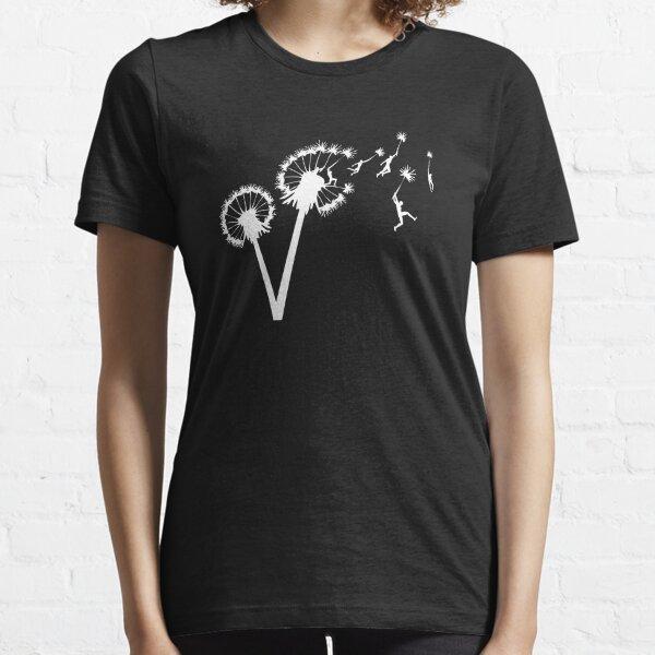 Dandylion Flight - white silhouette Essential T-Shirt