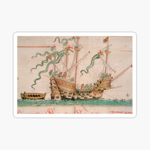 King Henry VIII Tudor Naval Ship - The Mary Rose Flagship Sticker