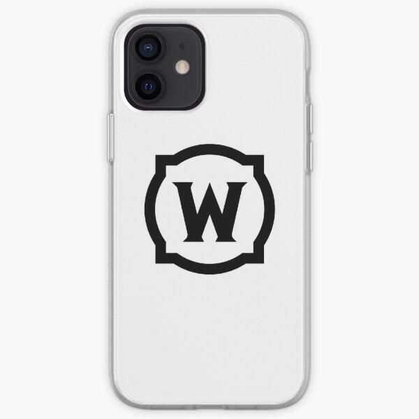 World of Warcraft Black Logo Coque souple iPhone