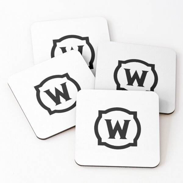 World of Warcraft Black Logo Coasters (Set of 4)