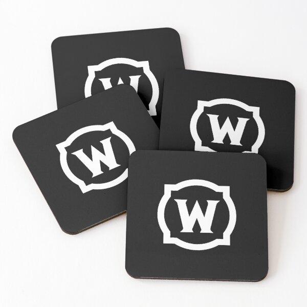 Logotipo blanco de World of Warcraft Posavasos (lote de 4)