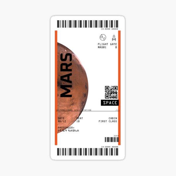 Mars Ticket Sticker