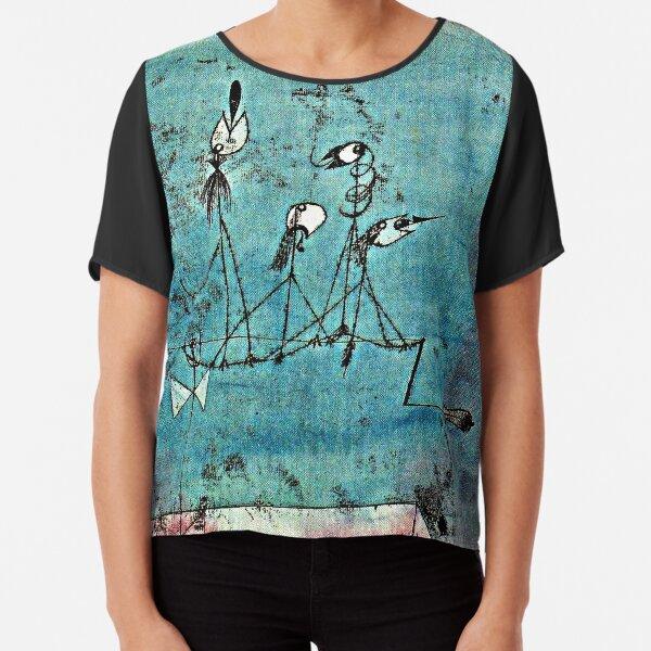 Paul Klee artwork, Twittering Machine Chiffon Top