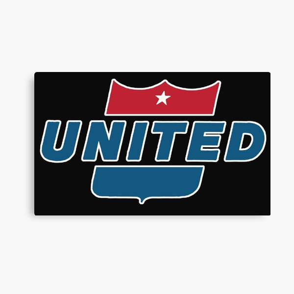 Vintage United Airlines sign Canvas Print