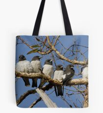 The Wood-swallow Family Tote Bag