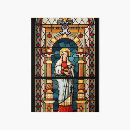Saint Elizabeth of Hungary Stained Glass Art Board Print