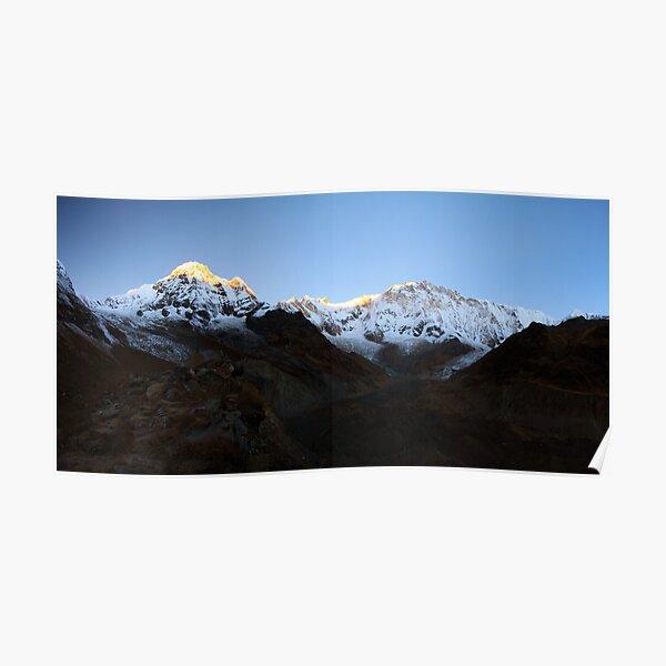 Pre dawn glow on Annapurna South. Poster