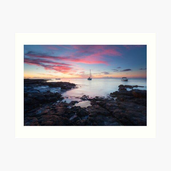 Blue Bay Dawn Kunstdruck