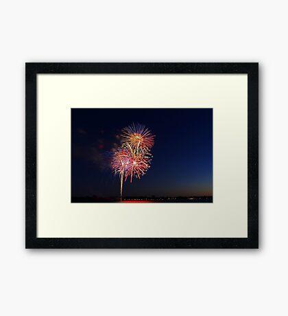 New Year Day Fireworks 2014  Framed Print